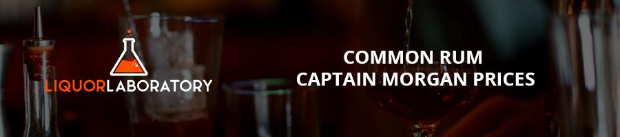 Common Rum Captain Morgan Prices