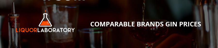 Comparable Brands Gin Prices
